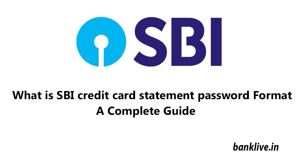 What is SBI credit card statement password
